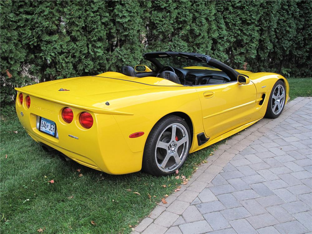 2001 CHEVROLET CORVETTE Z06 CUSTOM CONVERTIBLE - Rear 3/4 - 133556