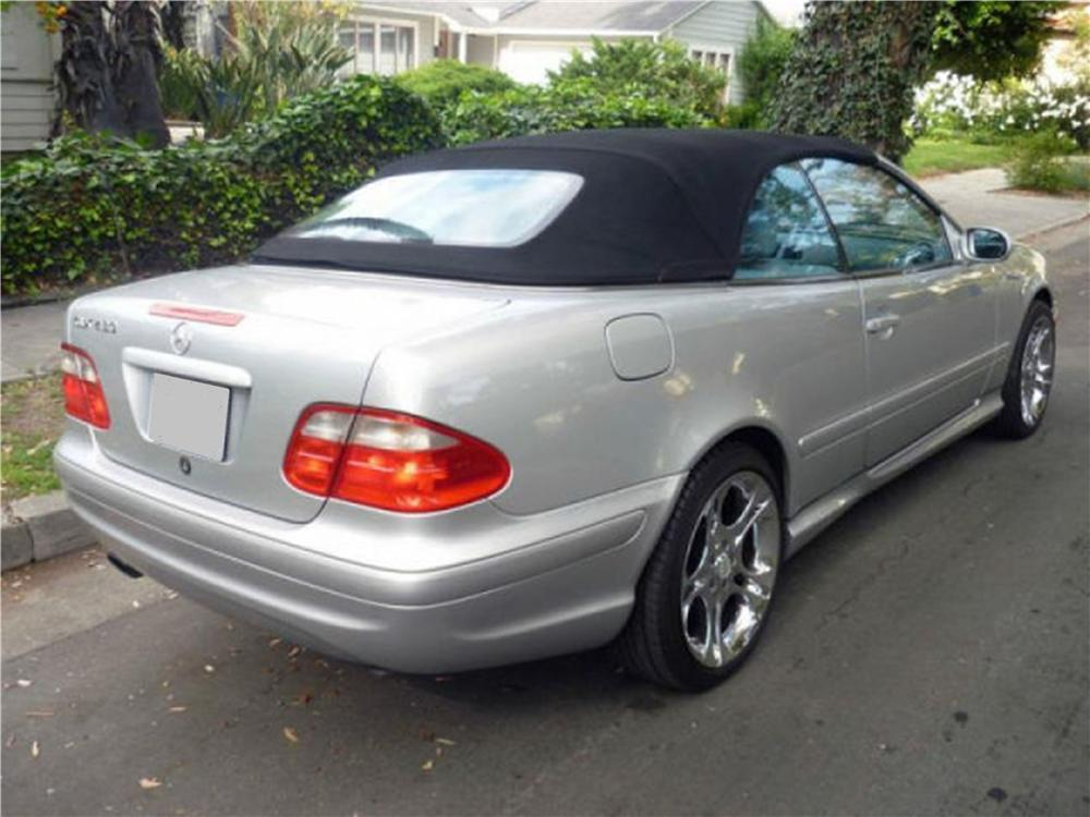 2001 MERCEDES-BENZ CLK430 CONVERTIBLE - Rear 3/4 - 133558