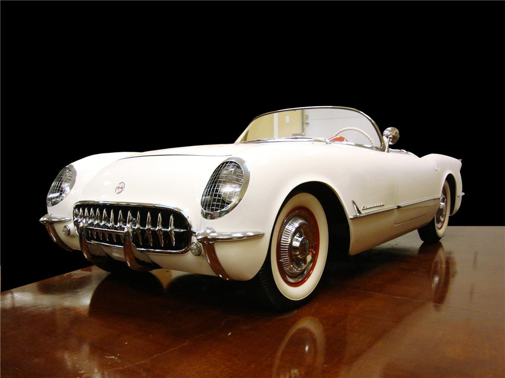 1954 CHEVROLET CORVETTE CONVERTIBLE - Front 3/4 - 133559