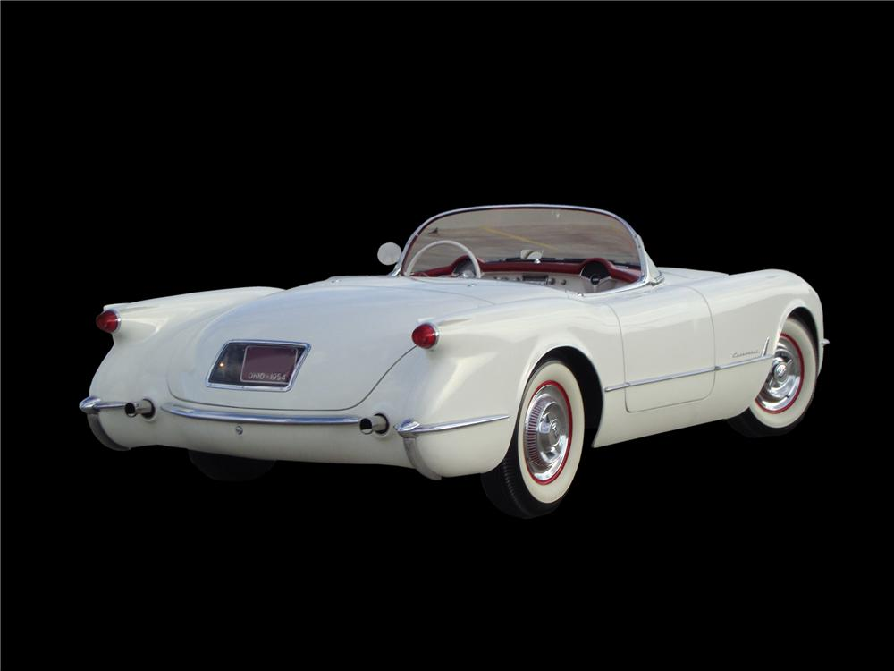 1954 CHEVROLET CORVETTE CONVERTIBLE - Rear 3/4 - 133559