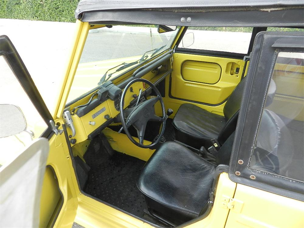 1973 VOLKSWAGEN THING CONVERTIBLE - Interior - 133560