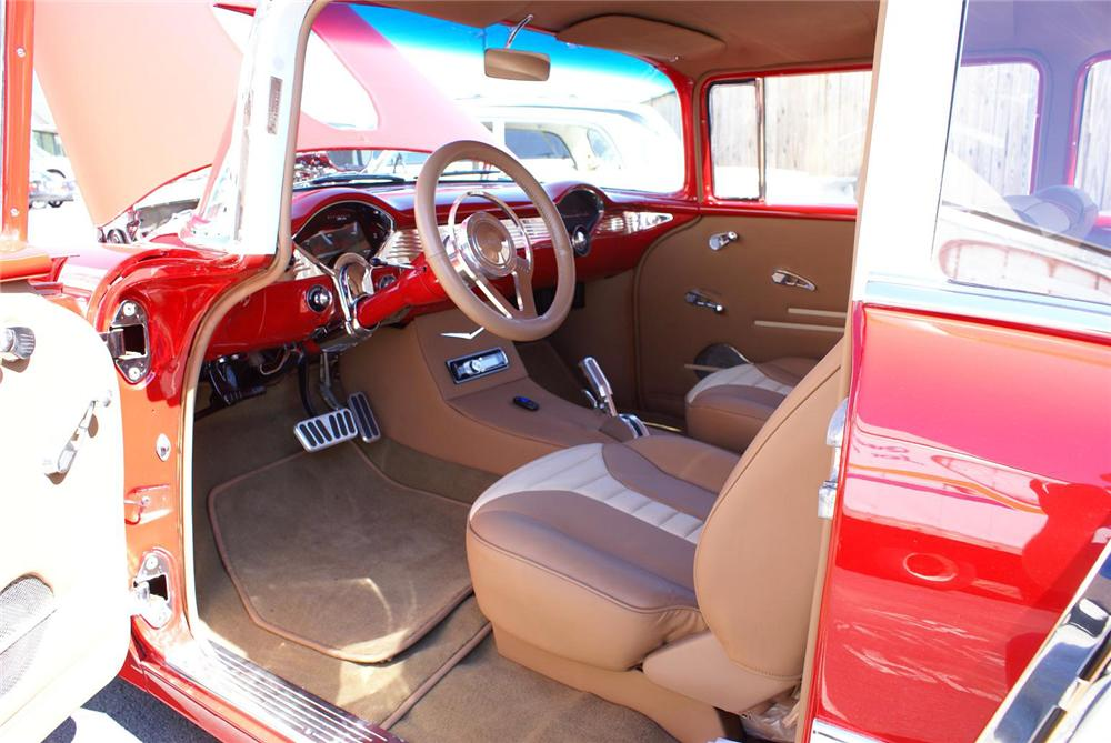 1955 CHEVROLET 210 CUSTOM 2 DOOR SEDAN - Interior - 133578