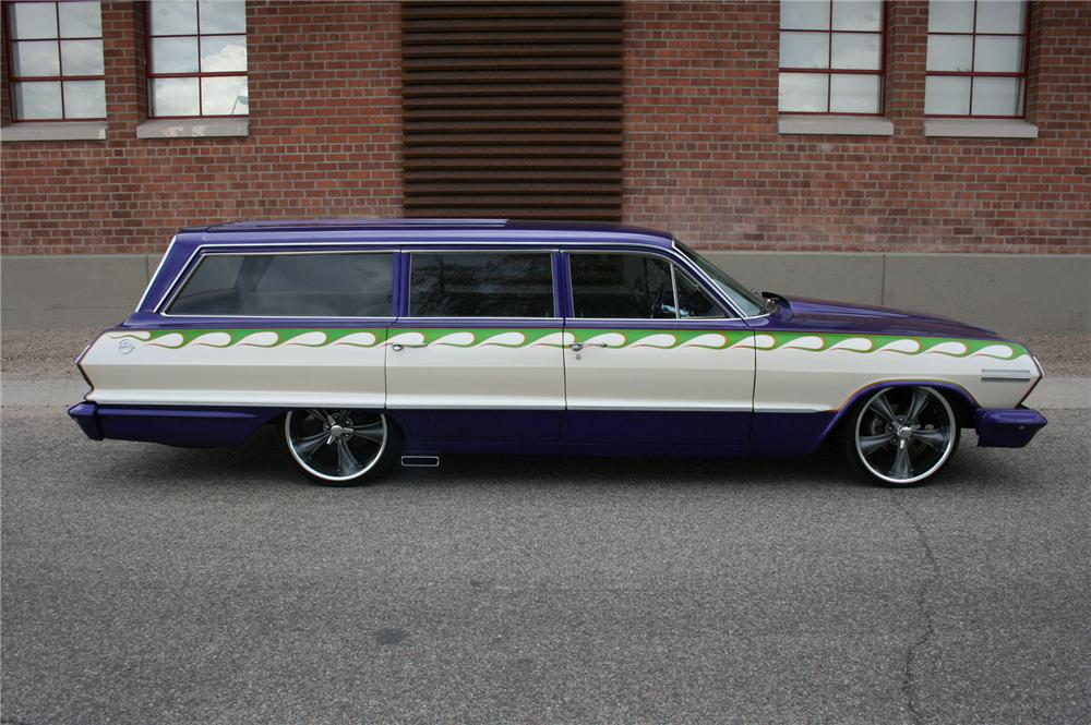 1963 CHEVROLET IMPALA CUSTOM STATION WAGON - Side Profile - 133581