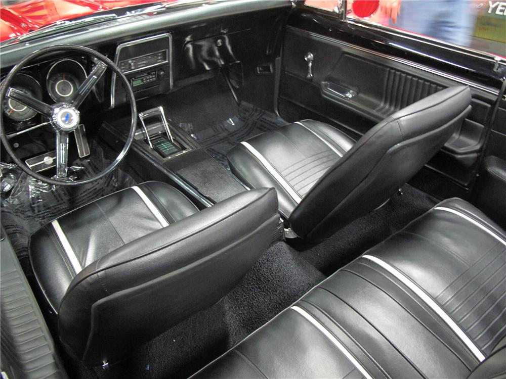 1967 CHEVROLET CAMARO CUSTOM CONVERTIBLE - Interior - 133602