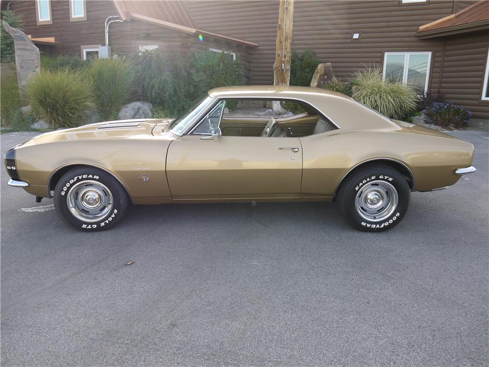 1967 CHEVROLET CAMARO 2 DOOR COUPE - Side Profile - 133689