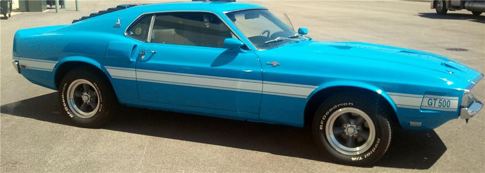 1969 SHELBY GT500 2 DOOR COUPE - Side Profile - 137539