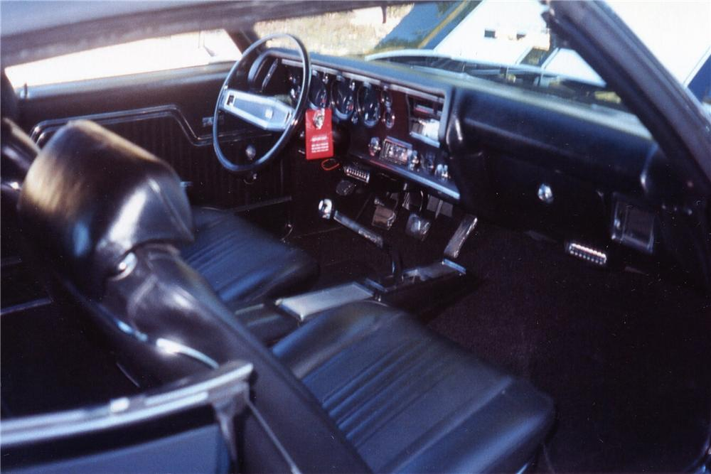 1970 CHEVROLET CHEVELLE LS5 SS CONVERTIBLE - Interior - 137542