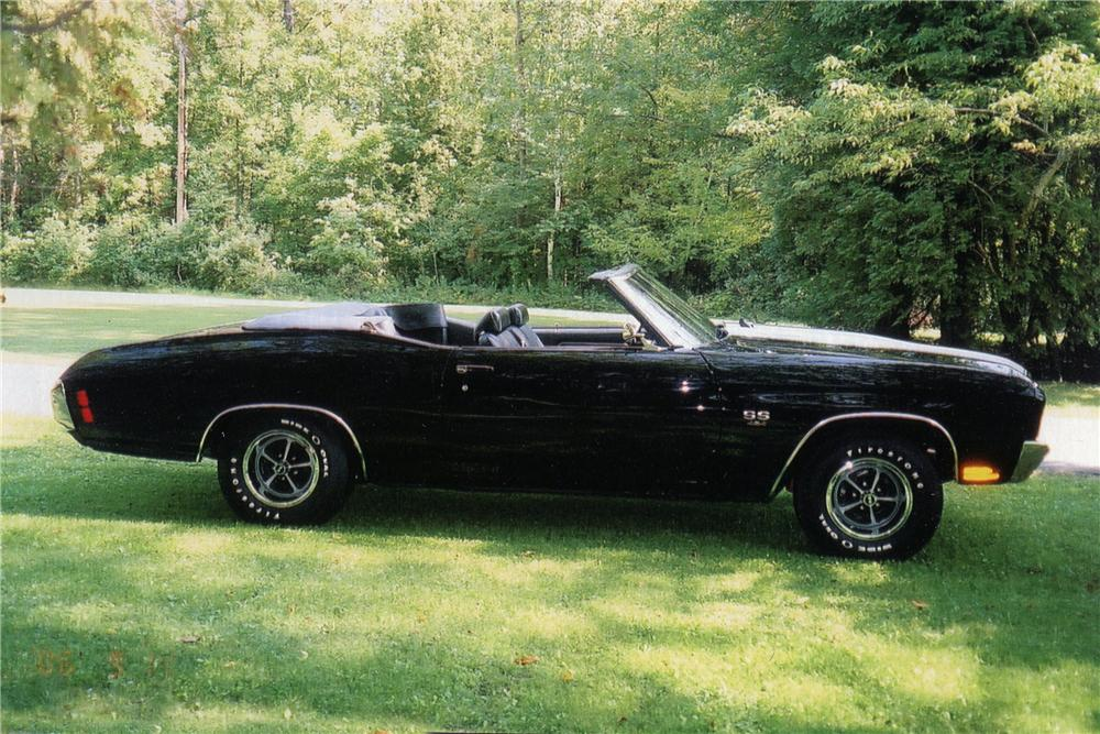 1970 CHEVROLET CHEVELLE LS5 SS CONVERTIBLE - Side Profile - 137542