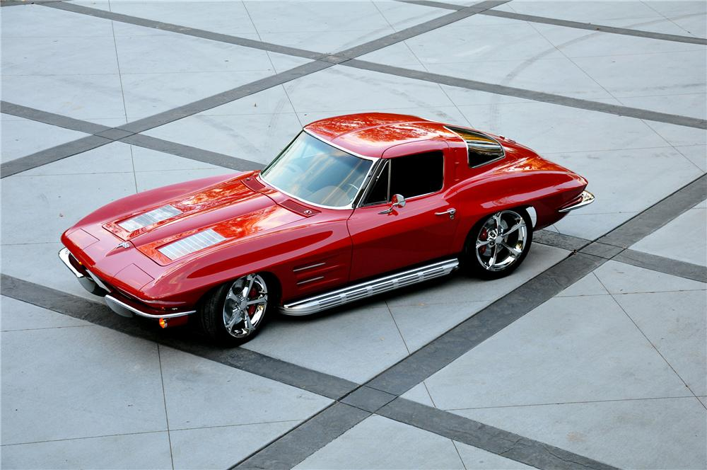 1963 CHEVROLET CORVETTE CUSTOM SPLIT WINDOW COUPE - Side Profile - 137550