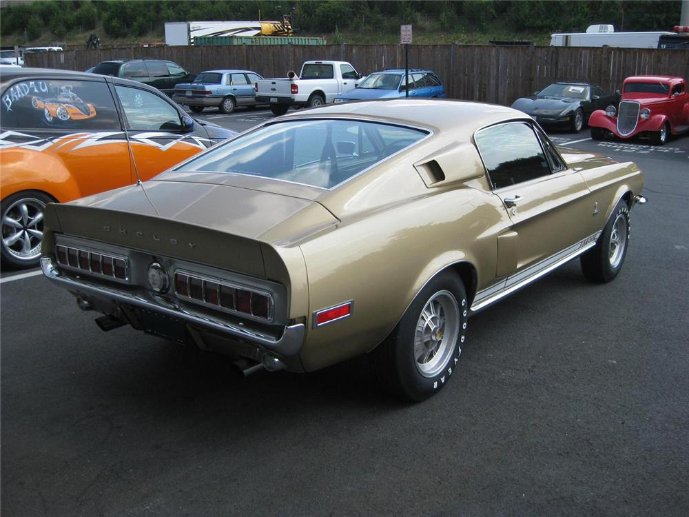 1968 SHELBY GT500 FASTBACK - Rear 3/4 - 137558