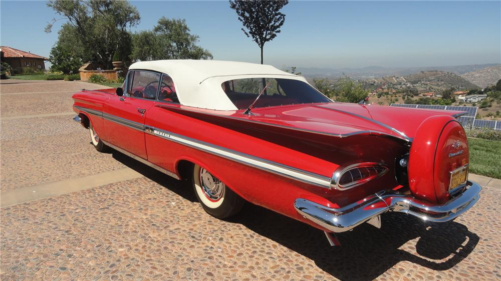 1959 CHEVROLET IMPALA CONVERTIBLE - Rear 3/4 - 137573