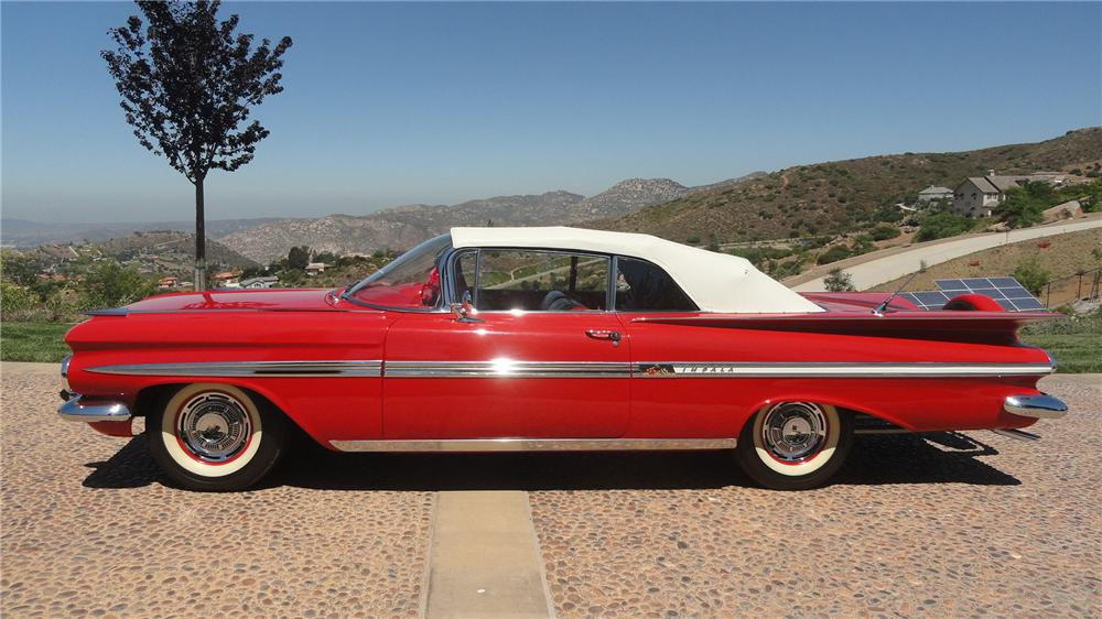 1959 CHEVROLET IMPALA CONVERTIBLE - Side Profile - 137573