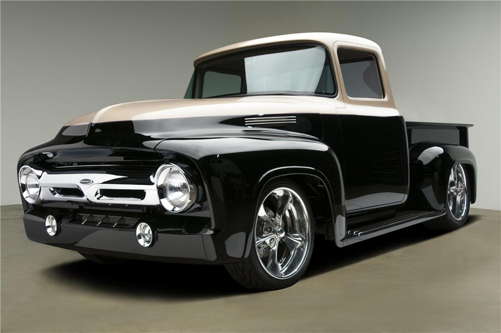 1956 FORD F-100 CUSTOM PICKUP - Front 3/4 - 137611