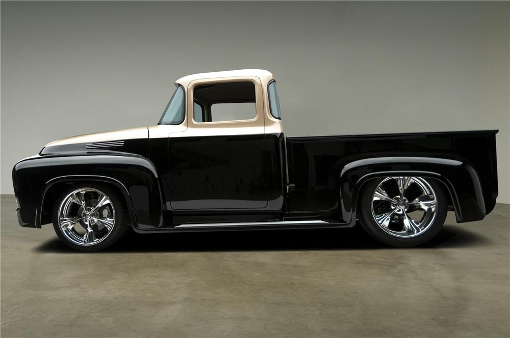1956 FORD F-100 CUSTOM PICKUP - Side Profile - 137611