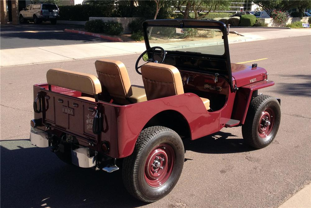 1952 WILLYS CJ3A  - Rear 3/4 - 137614