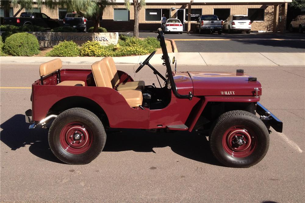 1952 WILLYS CJ3A  - Side Profile - 137614