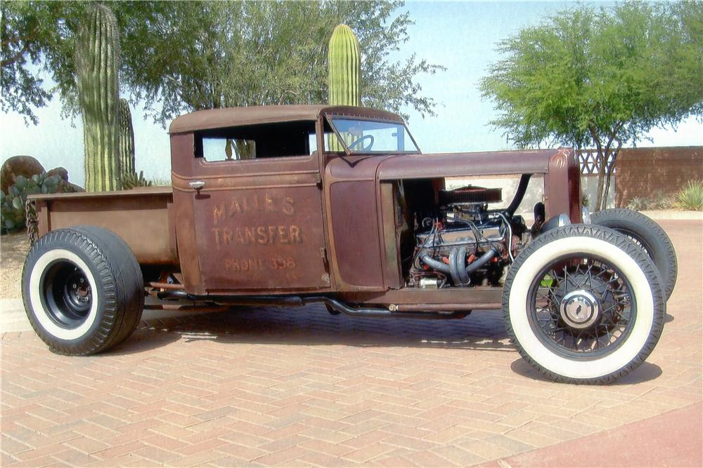 1931 CHEVROLET CUSTOM PICKUP - Side Profile - 137615