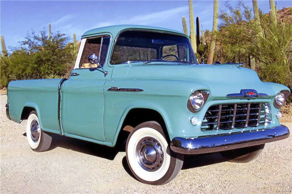 1956 CHEVROLET CAMEO PICKUP - Front 3/4 - 137616