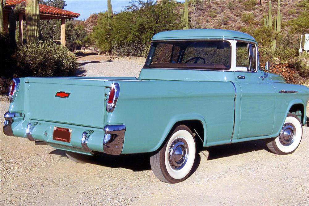 1956 CHEVROLET CAMEO PICKUP - Rear 3/4 - 137616