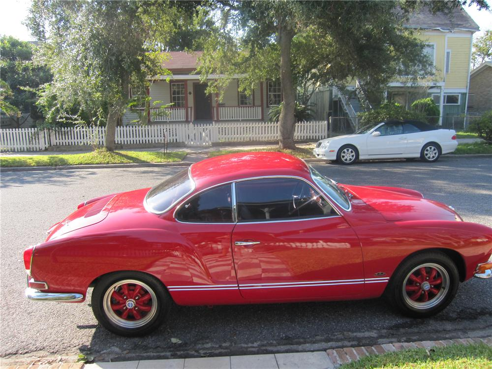 1971 VOLKSWAGEN KARMANN GHIA 2 DOOR COUPE - Side Profile - 137627