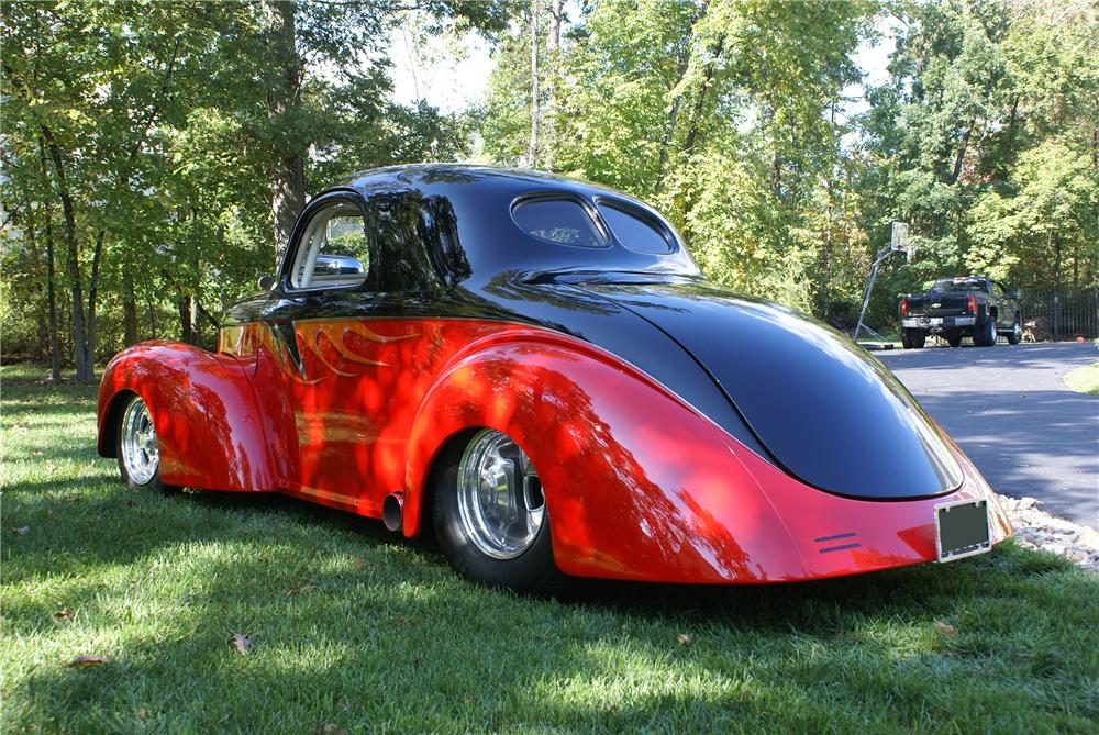 1941 WILLYS CUSTOM COUPE - Rear 3/4 - 137651