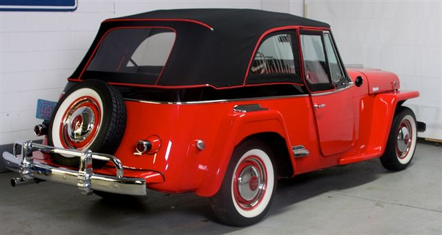 1948 WILLYS JEEPSTER CONVERTIBLE - Rear 3/4 - 137653