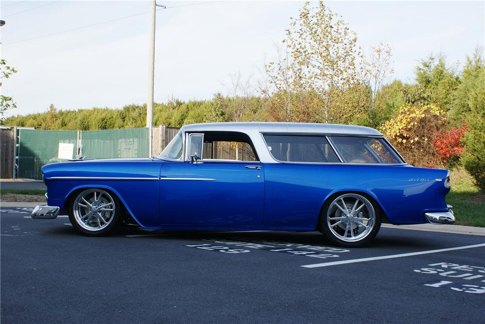1955 CHEVROLET NOMAD CUSTOM WAGON - Side Profile - 137654