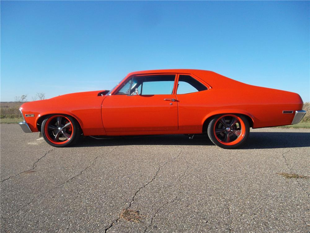 1972 CHEVROLET NOVA CUSTOM 2 DOOR COUPE - Side Profile - 137656
