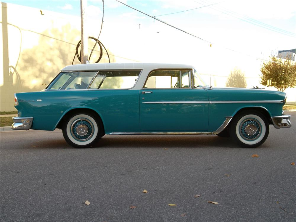 1955 CHEVROLET NOMAD WAGON - Side Profile - 137660