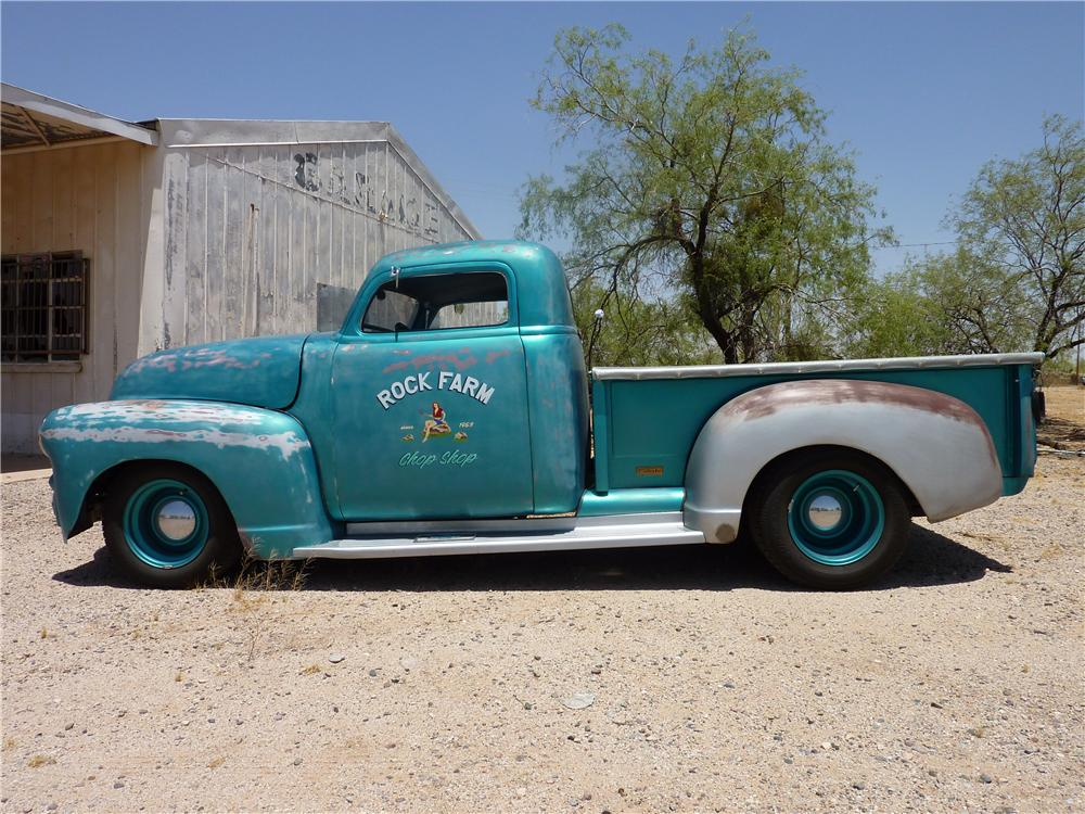 1949 CHEVROLET 3100 CUSTOM PICKUP - Side Profile - 137663