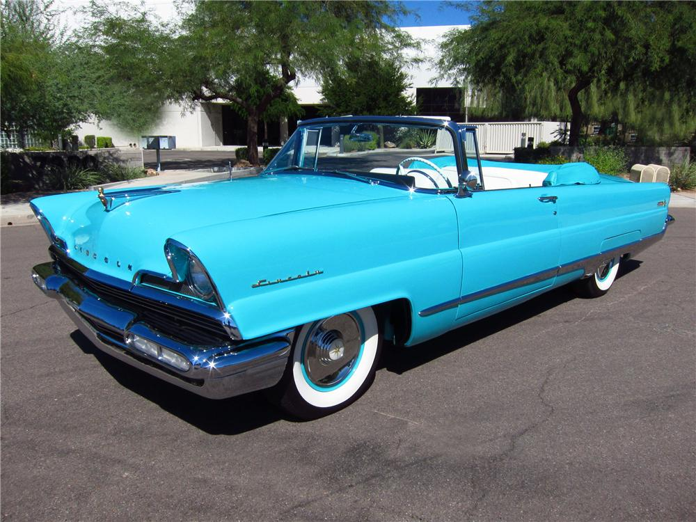 1956 LINCOLN PREMIERE CONVERTIBLE - Front 3/4 - 137680