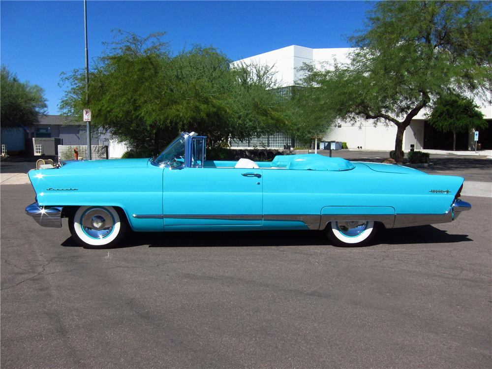 1956 LINCOLN PREMIERE CONVERTIBLE - Side Profile - 137680