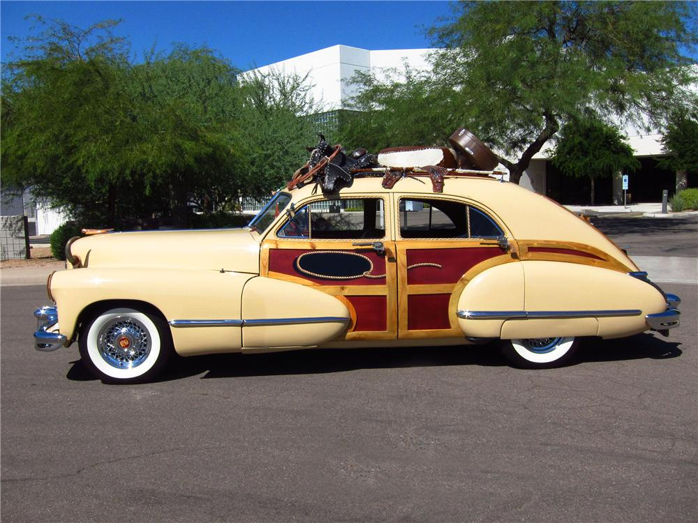 1946 CADILLAC SERIES 62 4 DOOR SEDAN WOODY - Side Profile - 137691