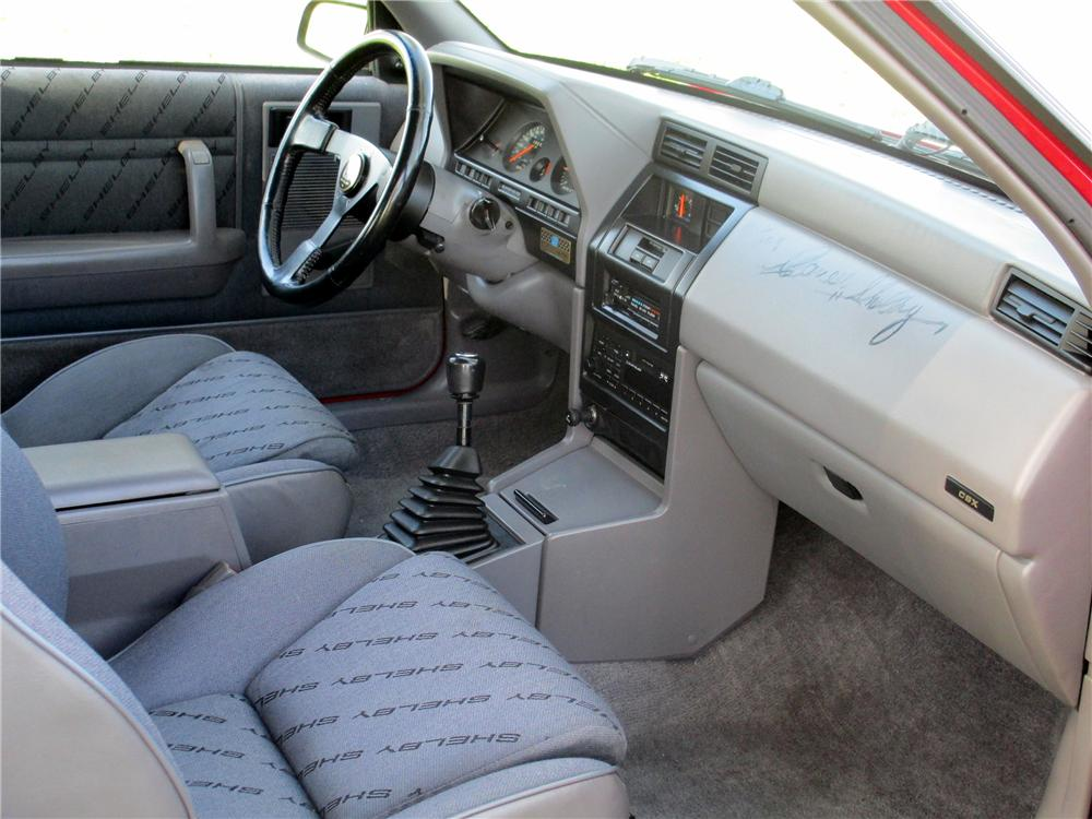 1989 DODGE SHELBY CSX-VNT 3 DOOR HATCHBACK - Interior - 137693