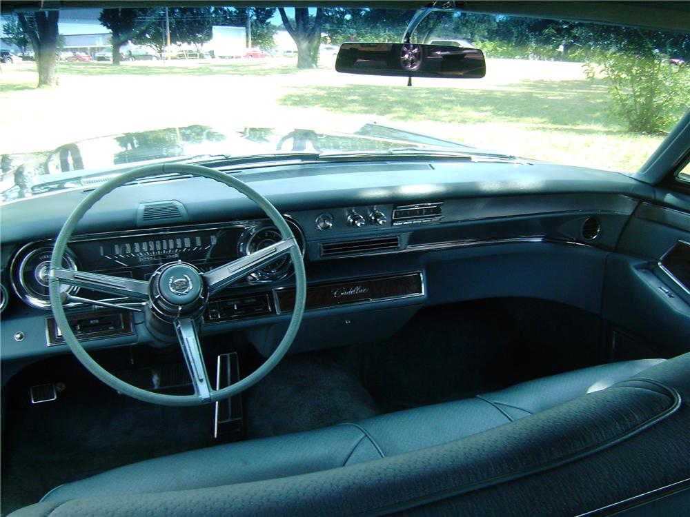 1965 CADILLAC FLEETWOOD BROUGHAM 4 DOOR SEDAN - Interior - 137694