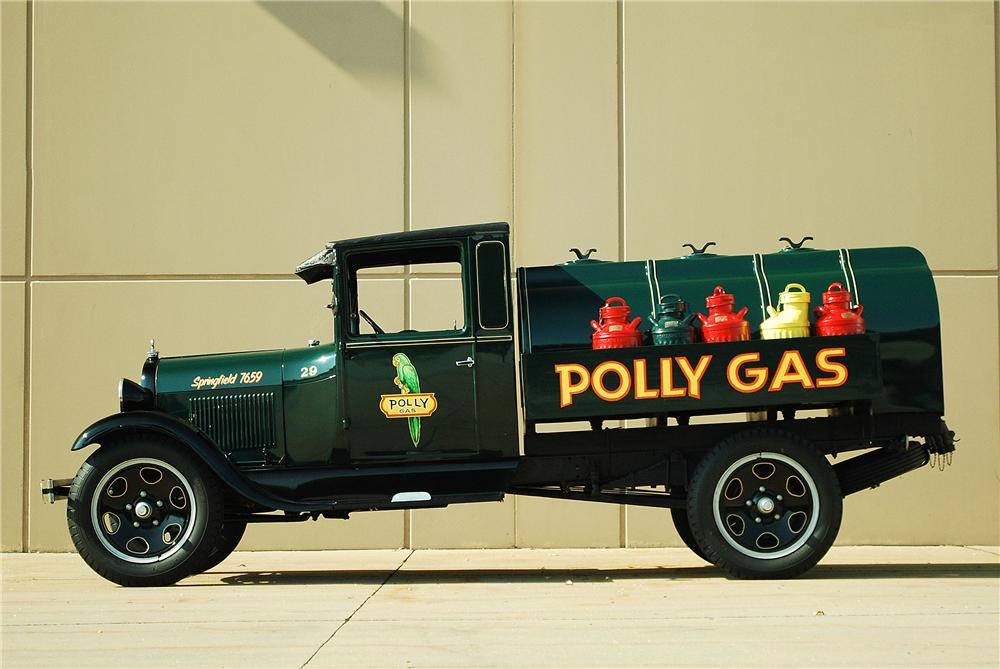 1929 FORD AA FUEL TRUCK - Side Profile - 137700