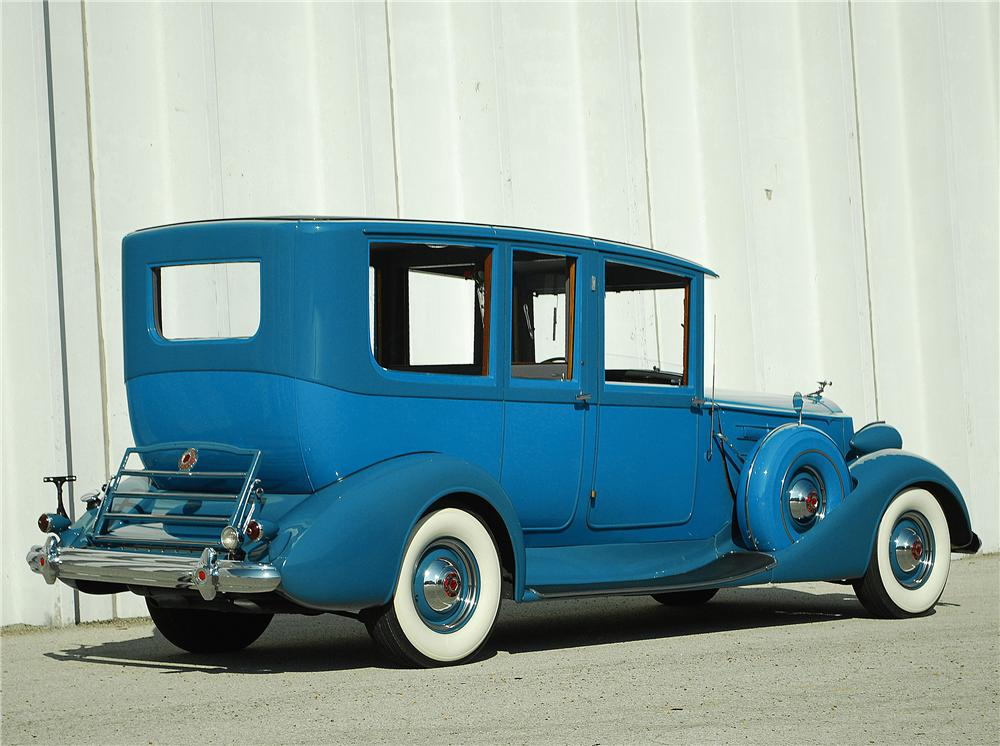1937 PACKARD 12 LIMOUSINE - Rear 3/4 - 137716