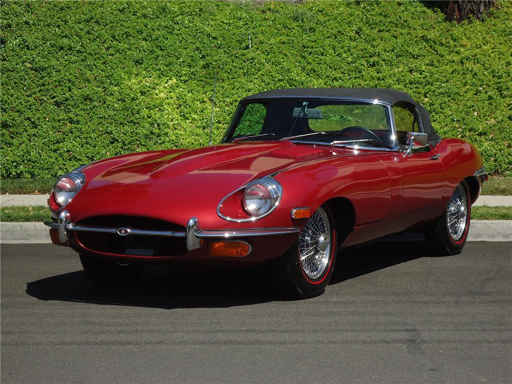 1970 JAGUAR XKE ROADSTER - Side Profile - 137726