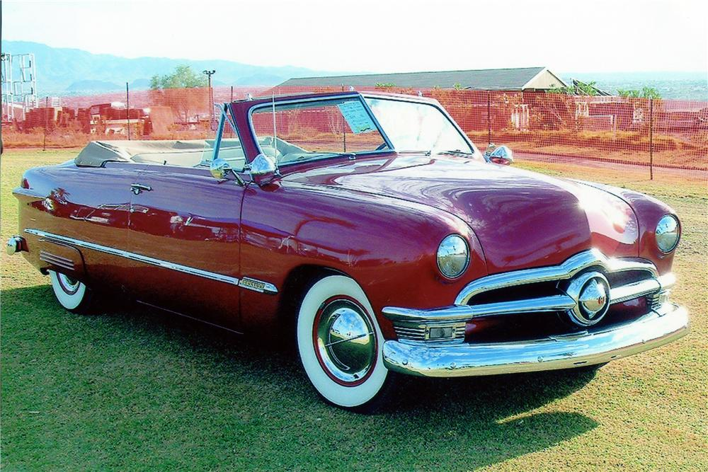 1950 FORD CUSTOM CONVERTIBLE - Front 3/4 - 137730