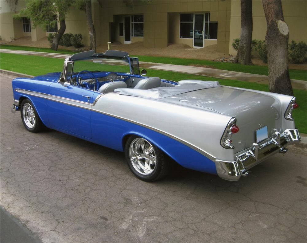 1956 CHEVROLET BEL AIR CUSTOM CONVERTIBLE - Rear 3/4 - 137733