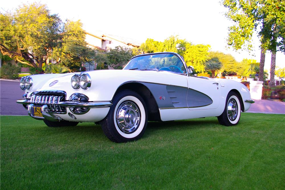 1959 CHEVROLET CORVETTE CONVERTIBLE - Front 3/4 - 137752