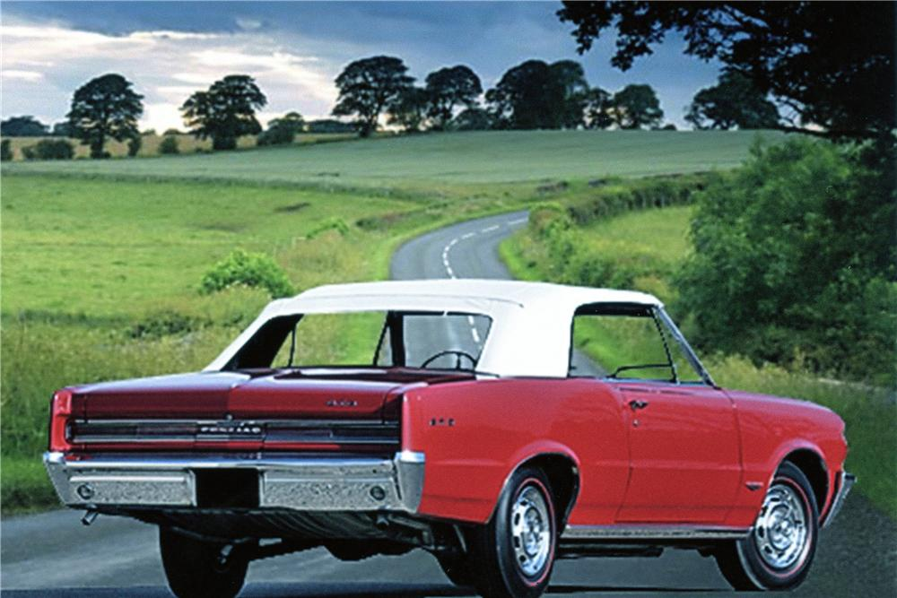 1964 PONTIAC GTO CONVERTIBLE - Rear 3/4 - 137760