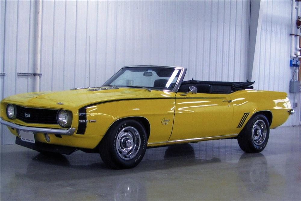 1969 CHEVROLET CAMARO SS CONVERTIBLE - Front 3/4 - 137762
