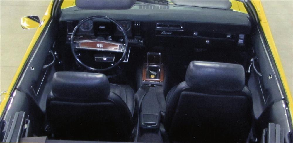 1969 CHEVROLET CAMARO SS CONVERTIBLE - Interior - 137762