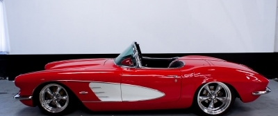 1961 CHEVROLET CORVETTE CUSTOM CONVERTIBLE - Side Profile - 137781