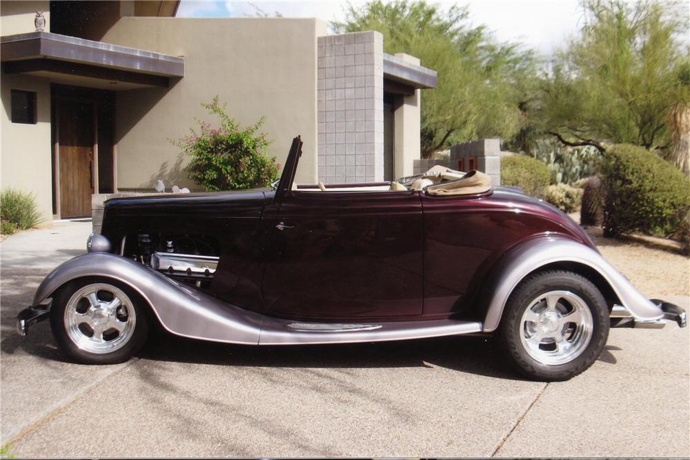 1933 FORD CUSTOM CABRIOLET - Side Profile - 137796