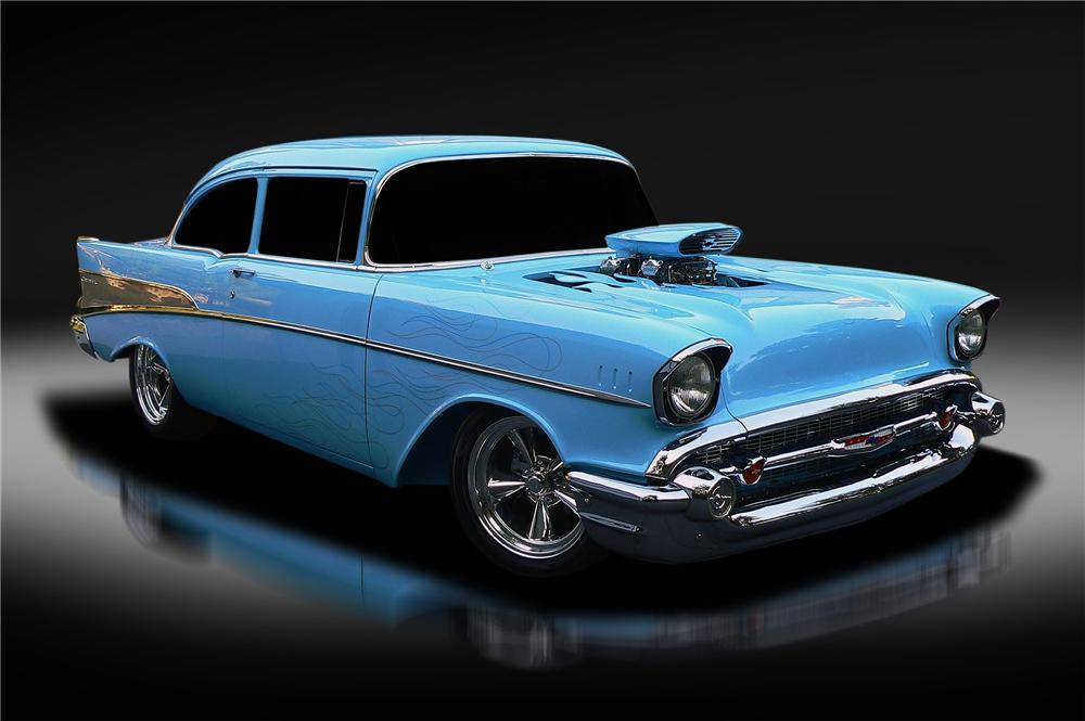 1957 CHEVROLET 210 DEL RAY CUSTOM 2 DOOR SEDAN - Front 3/4 - 137799