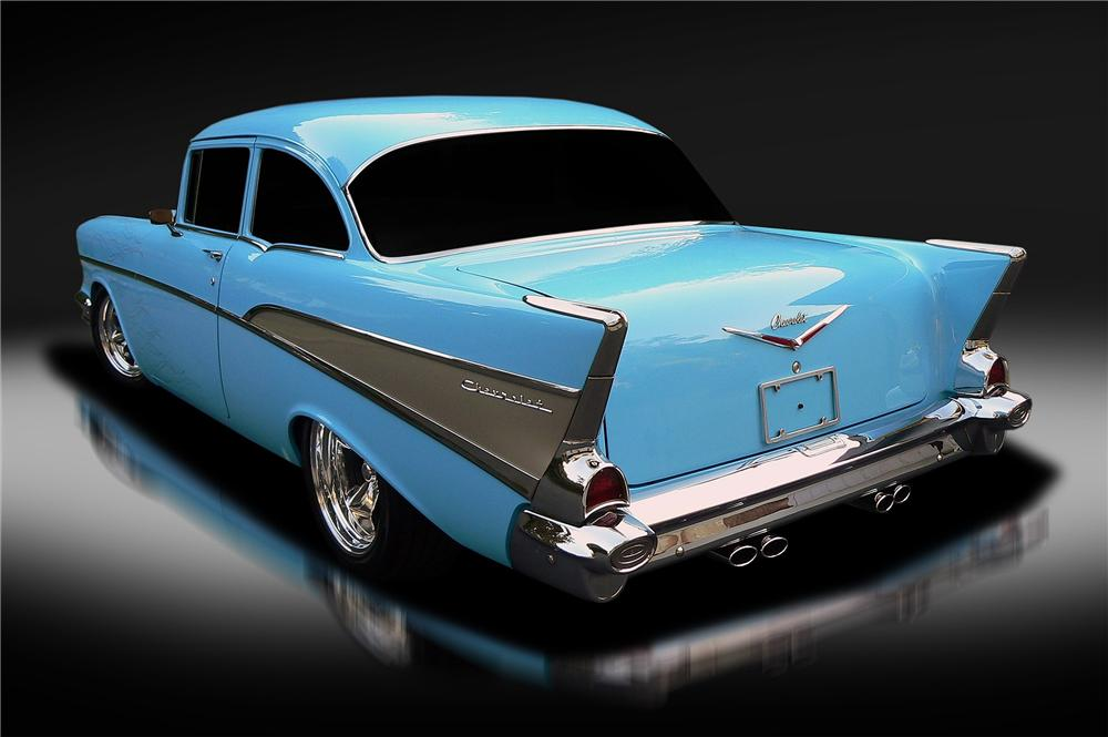 1957 CHEVROLET 210 DEL RAY CUSTOM 2 DOOR SEDAN - Rear 3/4 - 137799