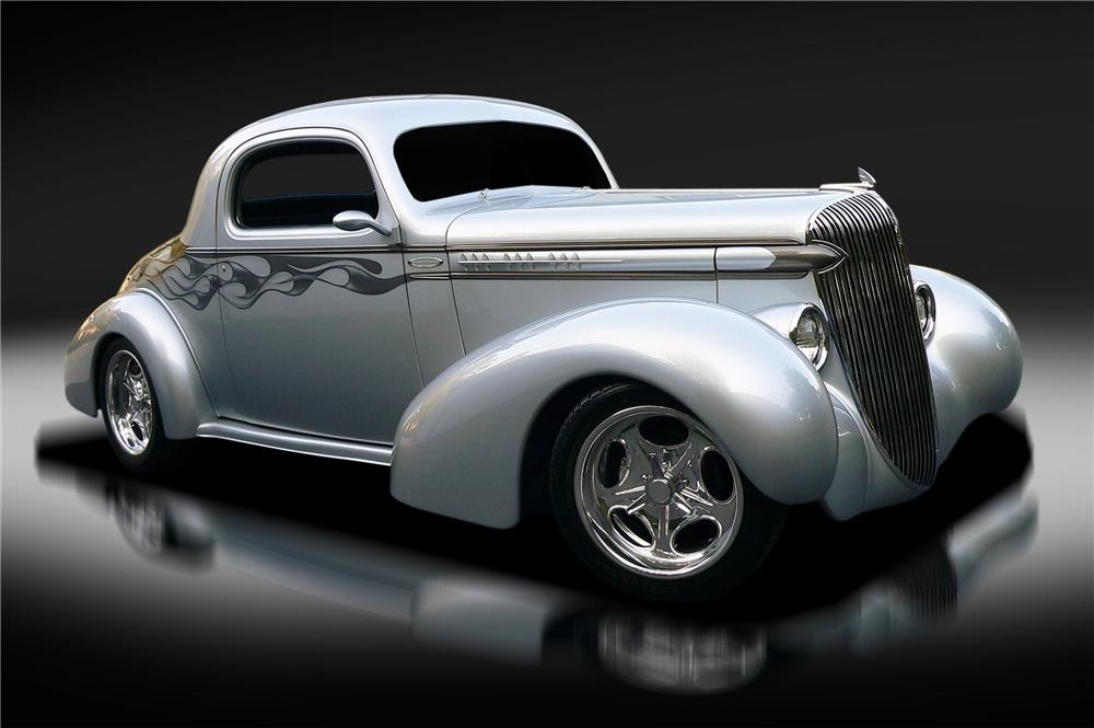 1936 OLDSMOBILE CUSTOM 3-WINDOW COUPE - Front 3/4 - 137800