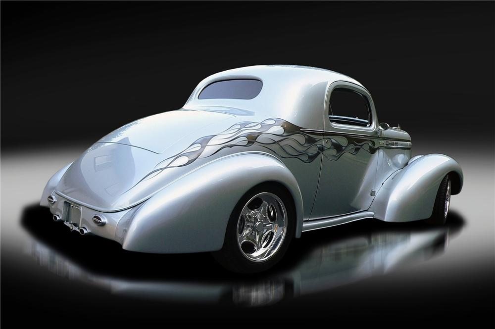 1936 OLDSMOBILE CUSTOM 3-WINDOW COUPE - Rear 3/4 - 137800